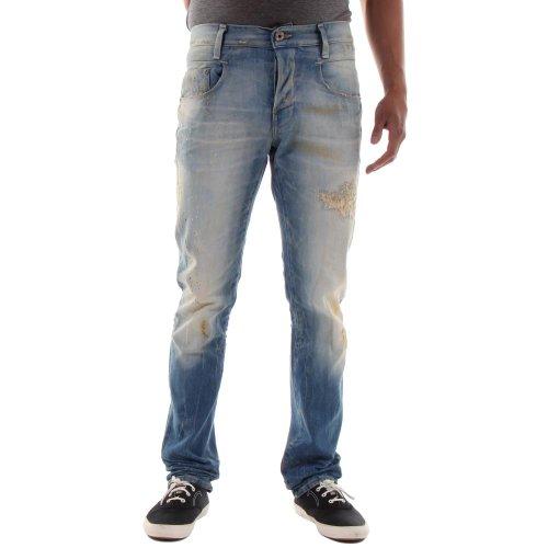 G-STAR RAW Herren Jeans New Radar Slim Blau (Mittel Alter Zerstre)