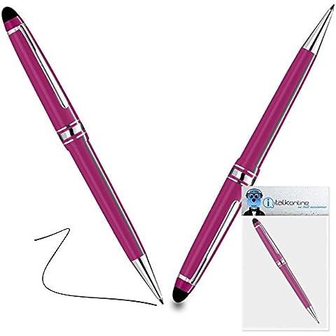 iTALKonline Philips X830 Rosa PRO Captive Toccare Punta penna stilo con punta in gomma con Rullo di Penna