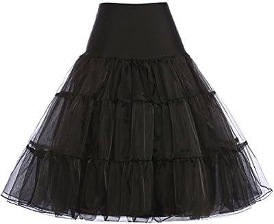 GRACE KARIN® Falda Mujer Enaguas Rockabilly 14 Colores Por la rodilla