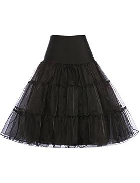 [Sponsorizzato]GRACE KARIN® 50s Donna Sottogonne al ginocchio Retro Petticoats Vintage Mini Gonne 14 colori