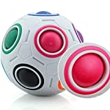 Magic Rainbow Ball Nuevo Juguete Creativo extraño Extranjero Fútbol Descompresión Cubos de Rubik Juguetes educativos para niños