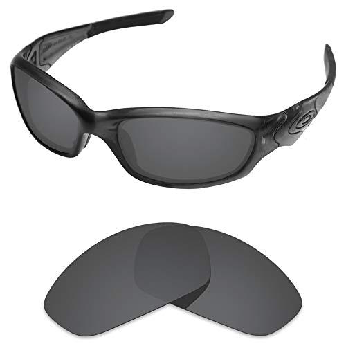 sunglasses restorer Verres de Rechange Por Oakley Straight Jacket 2.0, Black Iridium Polarisé