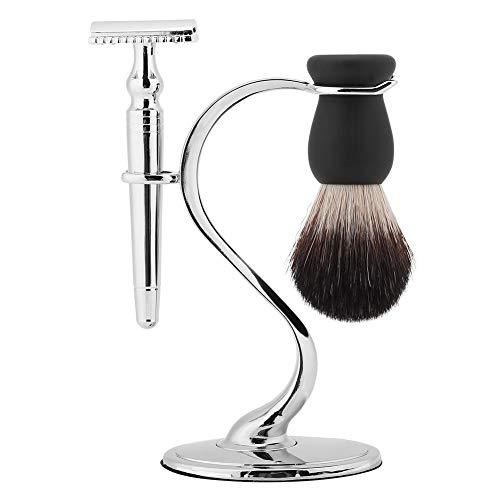 Rasierständer, 2 in 1 Edelstahl Swan Rasiermesser Bartbürstenhalter, Bartpflege-Werkzeug ist nicht leicht zu verfärben, geeignet für Friseursalons und Familien, Rasier Pinselständer