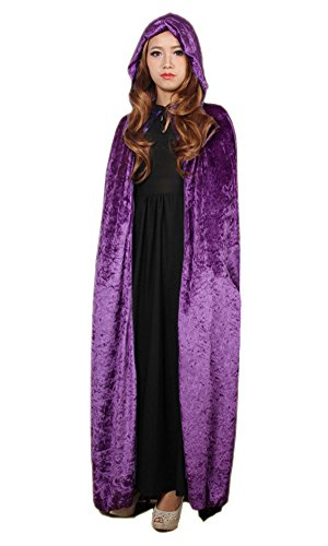 LifeWheel Halloween Sensenmann Umhang Karneval Fasching Kostüm Tod umhänge Cosplay Hexen Robe (Sensenmann Kostüm Mädchen)