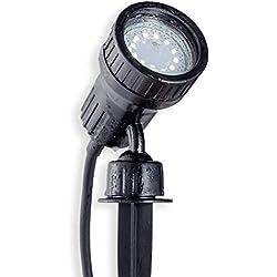B.K.Licht LED Gartenstrahler Pflanzenstrahler Innen-/ und Außen inkl. 3W GU10, Erdspiess, Wegbeleuchtung, Rasenlicht, Gartenleuchte, Gartenbeleuchtung, Gartenlicht, Gartenspiess, Gartenlampe schwenkbar IP44