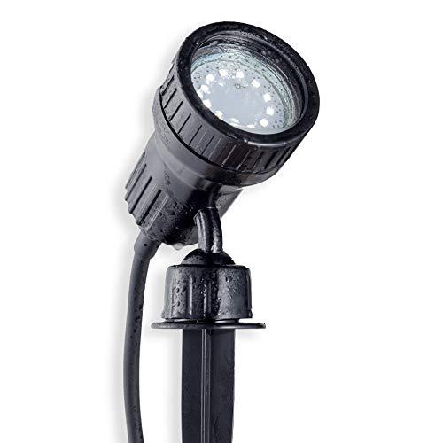 B.K.Licht LED Gartenstrahler Pflanzenstrahler Innen-/ und Außen inkl. 3W GU10, Erdspiess, Wegbeleuchtung, Rasenlicht, Gartenleuchte, Gartenbeleuchtung, Gartenlicht, Gartenspiess, Gartenlampe schwenkbar ()