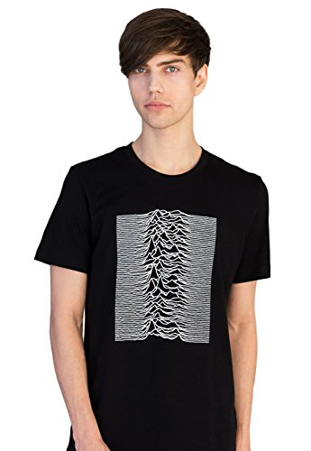 Joy Division Unknown Pleasures T-shirt, Minimal, Black