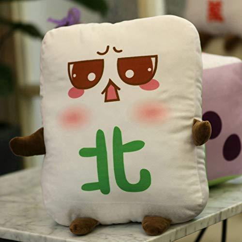 yfkjh Kreative Ausdruck, Mahjong Puppe, Plüsch Spielzeug, große Würfel, Puppenpuppen, Sofa Kissen, lustige Geschenk Mädchen Ca. 15 cm Anhänger Norden
