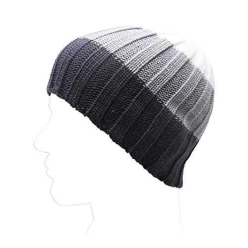 Kobay Inverno Unisex Donna Uomo Maglia Sci Crochet Slouch Cappello Beanie  Cappello Hip-Hop Solido b7bd0ea97441
