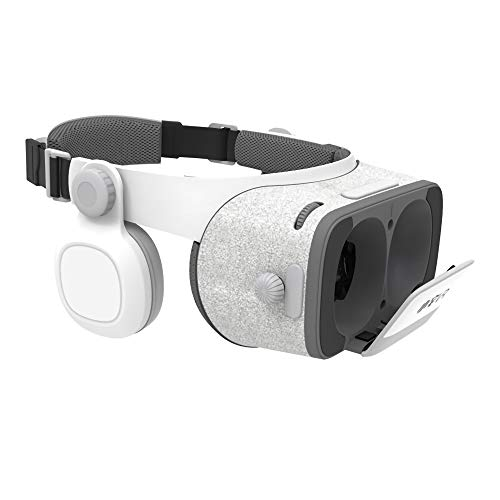 LJ2 VR Headset, Virtual Reality Headset 3D VR Brille Brille 720-Grad-Surround-Stereo-Sound Kompatibel 4,7-6,0 Zoll/Für iOS Android Smartphone 720 Headset
