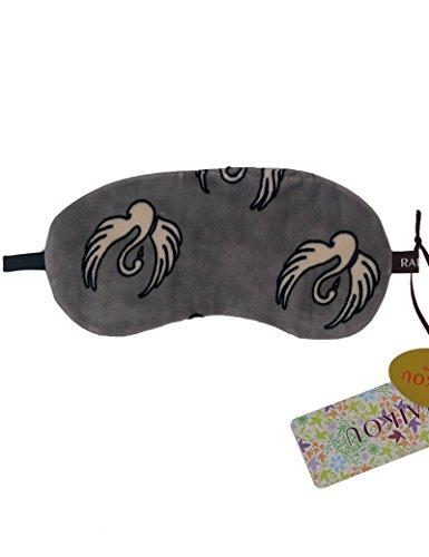 RAIKOU Luxus Damen Herren Kinder Schlafmaske Augenbinde Augenabdeckung bequeme - Nachtmaske Reise Maske mit 100% Lichtschutz für Tiefenentspannung Beste Augenmaske aus Fließ-Sleep Mask (One Size, Velvet Schwan)