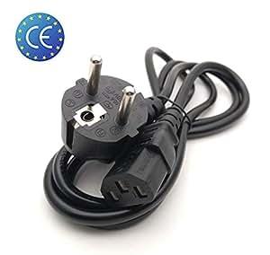 cable alimentation secteur 220v prise type e f schuko vers c13 ordinateur de bureau. Black Bedroom Furniture Sets. Home Design Ideas