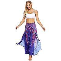 Hukangyu1231 Pantalones de Yoga de Bolsillo de Cintura Alta. Ej Pantalones de Yoga Pantalones de Yoga de impresión Digital de Color púrpura para la Aptitud (tamaño : Metro)