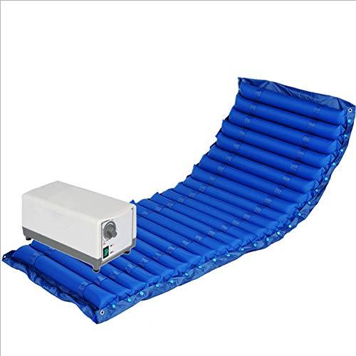 XJZHAN Luftmatratze Anti-Dekubitus-Massagekissen Altenpflege zu Hause mit elektrischer Pumpe,Blue,200x90cm - Abwechselnd Druck-luft-matratze
