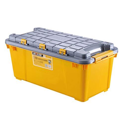 Vani e contenitori Forniture per Auto multifunzionali SUV per Auto Organizer (Color : Yellow, Size : 79.5 * 36.8 * 33.2cm(75L))