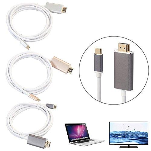 USB C USB 3.1 Typ C Stecker auf HDTV HDMI Stecker Kabel 4K Adapterkabel Ein neues Generation-Gadget, um den vorhandenen USB-C auf HDMI-Adapter zu ersetzen Gray
