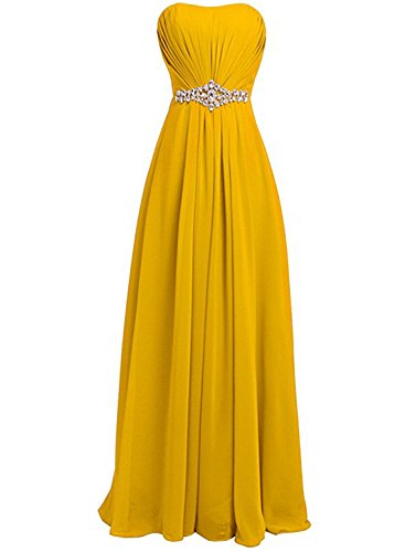 AZBRO Damen Schleife Spitze Cocktail Kleid Yellow