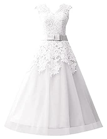 JAEDEN Women's A-Line Sleeveless Dress - White - UK 11.5