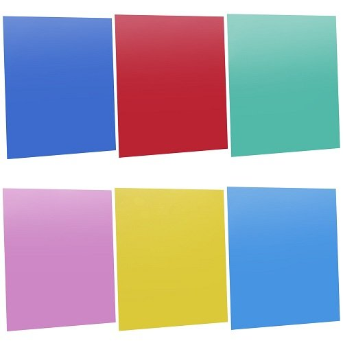 Neewer® 18 x 20 cm Filtro de Color Transparente Corrección de Iluminación de Gel para Foto Estudio Flash (rojo, azul, verde, cian, amarillo, y magenta), 6 Piezas
