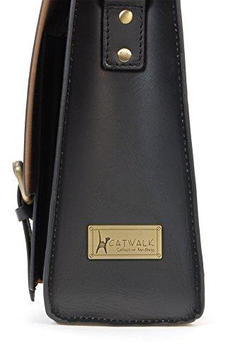 Sac de travail Sacocheen cuir signé Catwalk Collection - Canterbury Noir