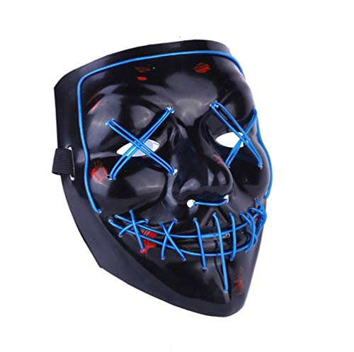 Up Led Light Kostüm - Halloween-Maske EL Light Up Party Masken Purge Wahljahr Lustige Masken Festival Cosplay Kostüm Vorräte Glühen LED,F