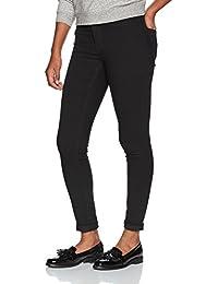 VERO MODA Damen Slim Jeans Vmseven Nw Ss Jeans Black Vi600 Noos