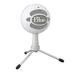 Blue Microphones Snowball iCE USB-Mikrofon (für Aufnahme und Streaming auf PC und Mac, Kondensator-Kapsel mit Nierencharakteristik, verstellbarer Ständer, Plug und Play) weiß