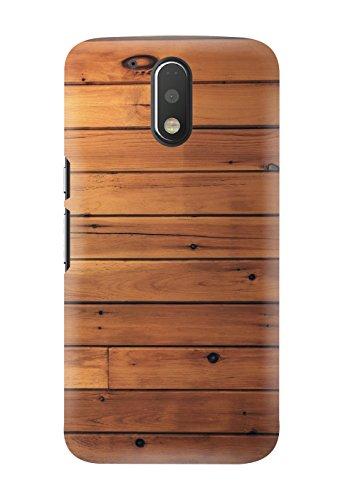 Kawach Phone Case/Back Cover for Moto G4 Plus / Moto G Plus (4th Generation) - Fake Wood Horizontal Printed Case