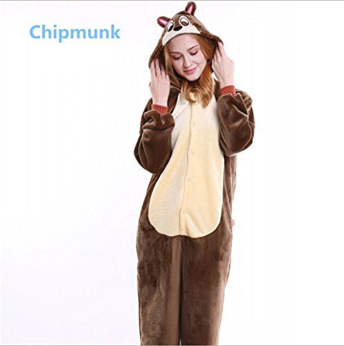 Kidslove Pyjama Tieroutfit Tierkostüme Schlafanzug Tier Onesize Sleepsuit mit Kapuze Erwachsene Unisex Jumpsuits Overall Pyjama Fleece