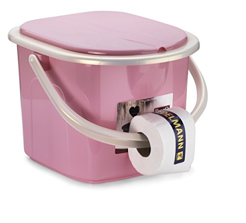 Branq Toilette 15.5 Liter Campingtoilette Toiletteneimer Reisetoilette Outdoor, Rosa, one Size