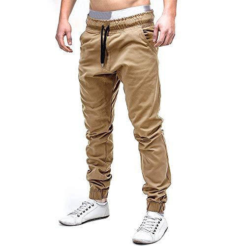 0cdef66a1b2f Cinnamou Pantalones de Algodón para Hombre, Pantalones de Trabajo con  Bolsillos para Trabajo Viaje Deporte