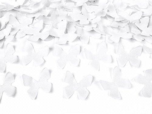 Konfettikanonen gefüllt mit weißen Schmetterlingen - 2
