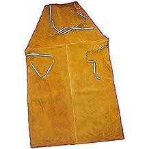 Sharplace Soldadura Delantal de Abrigo Largo Ropa de Protección para Soldador Herramienta de Jardinería Eléctrica -