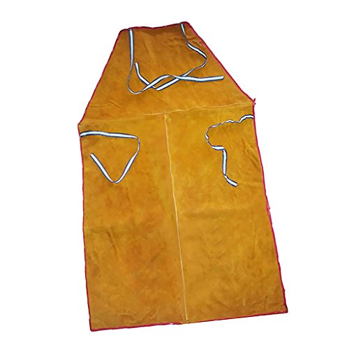 Sharplace Soldadura Delantal de Abrigo Largo Ropa de Protección para Soldador Herramienta de Jardinería Eléctrica - Naranja