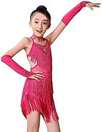 K-youth Ninas Borla Latino Vestido De Baile Vestido Danza Latina Niña Traje  Baile Tango Salsa Deportivo Salón. 9d47e7ed21035