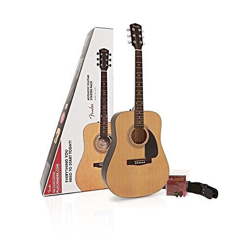 Fender FA-115 Dreadnought Pack - Natur (Dreadnought Acoustic Gitarre Pack)