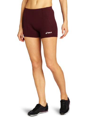 ASICS Baseline Volleyball Short, Maroon, X-Large (Asics Spandex Volleyball)