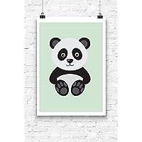 Print Wandbild Poster Bild Tierbaby Kleiner Panda OHNE RAHMEN Format A4