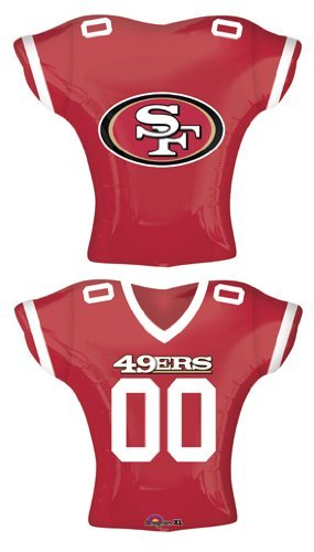 """Anagram International San Francisco 49ers Jersey Flat Party Balloons, 24"""", Multicolor"""
