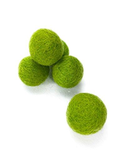 20 Filzkugeln 100% Filzwolle 71 Farben zum Aussuchen bunt, weiß oder rot zum Basteln von Filzkugelteppichen, Mobiles, zur Dekoration. Filzperlen auch zum Untersetzer selber machen. (Papagei grün (11)) (Grün Papagei)