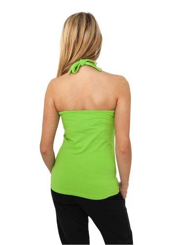 Urban Classics Femme Jeune Mode Ladies Neckholder Chemise limegreen