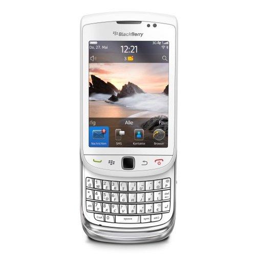 BlackBerry Torch 9800 Smartphone (8,1 cm (3,2 Zoll) Display, Touchscreen, 5 Megapixel Kamera, QWERTZ-Tastatur) weiß