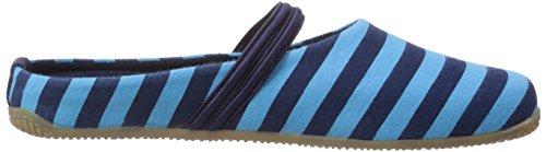 Living Kitzbühel Streifen Damen Pantoffeln Blau (561 marine /türkjis)
