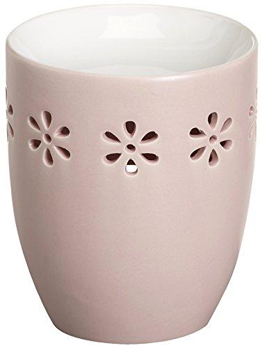 Creations Ovale Duftlampe aus Keramik, 9,7 x 9,7 x 11,4 cm, Rosa