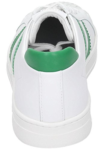 Bikkembergs Bounce 588 L.Shoe M Leather, Chaussures Basses Homme Blanc - Blanc