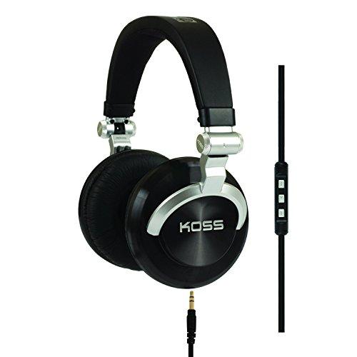 o Over-Ear DJ Kopfhörer Faltbar mit 3-Tasten Fernbedienung / Mikrofon und Spiralkabel - Schwarz ()