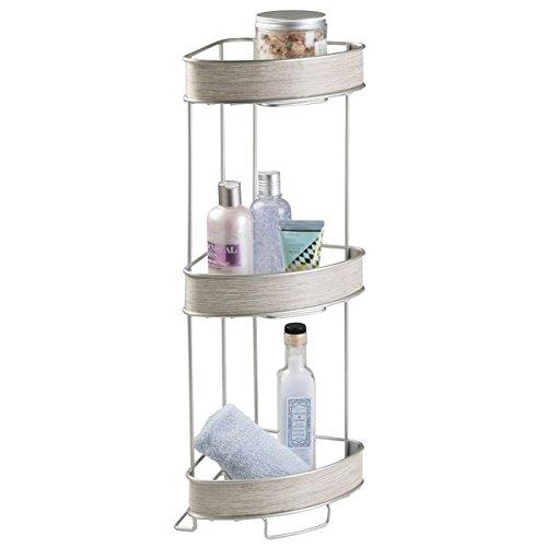 mDesign Repisa para baño - Esquinero autoportante...