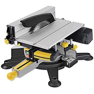41KOZ2ZLkZL. SS300  - POWERPLUS POWX07582 Sierra ingletadora con mesa superior, 1800 W, 240 V, 254 mm