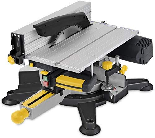 Powerplus powx07582-Gehrungssäge mit Tisch oben (254mm, 1800W, 240V)