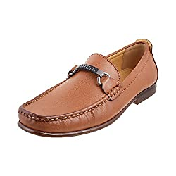 Metro Men Camel Synthetic Flat Shoes